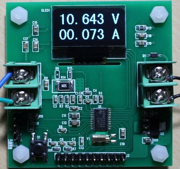 Placa de desenvolvimento MSP430AFE253 OLED12864 alta precisão voltímetro amperímetro