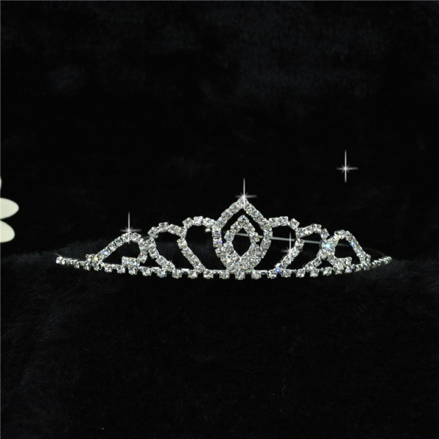 H:HYDE Wedding Bridal Bridesmaid Tiara Crown Headband Girls Love Crystal Rhinest