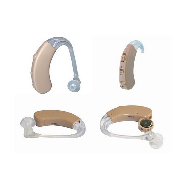F-998 Hearing Aid Ear Dispositivo de Gancho de Orelha Ajustável Amplificador de Som Voz Enhancement Deaf Aids Ouvir Clara para os Idosos Cuidados