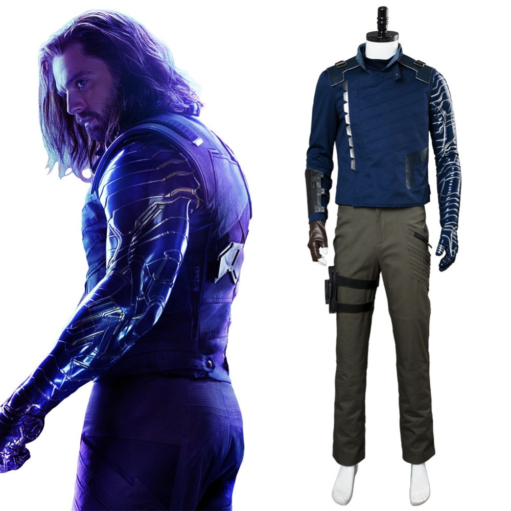 Avengers: Infinity War Winter Soldier Cosplay Costume Outfit Clothing Halloween Costumes Tailor Made