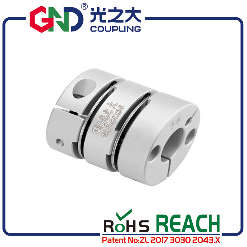 GND flexible coupling high sensitivity shaft 8mm 12mm double diaphragm bore coupling disc elastic torsionally flexible coupling in Shaft Couplings from Home Improvement