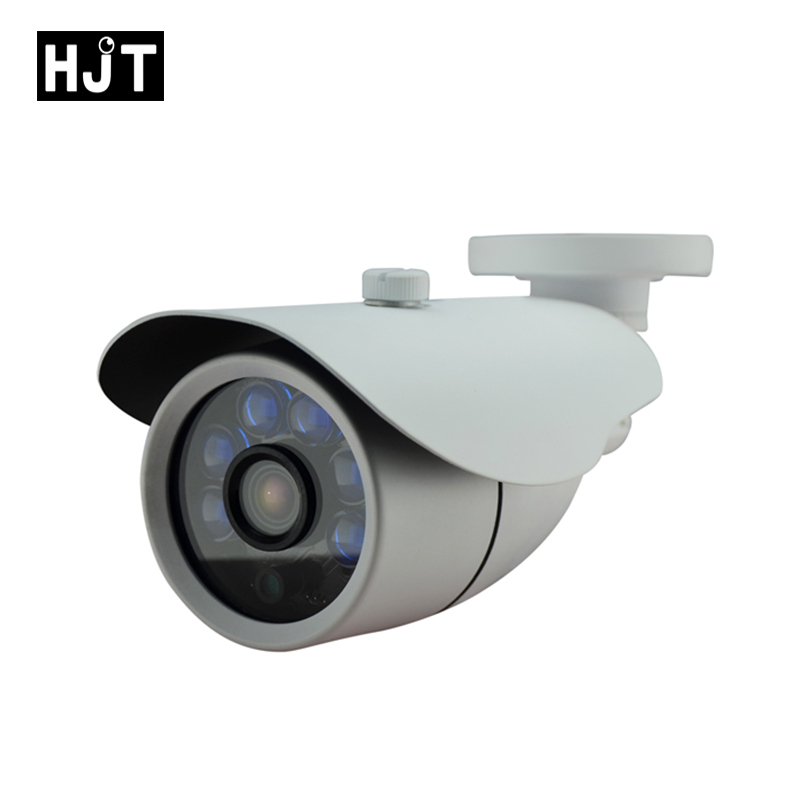 HJT IP Camera 1080P 2.0MP Bullet 6 Array LEDs Night Vision CCTV Security Outdoor Network P2P Onvif Surveillance With 12V Power