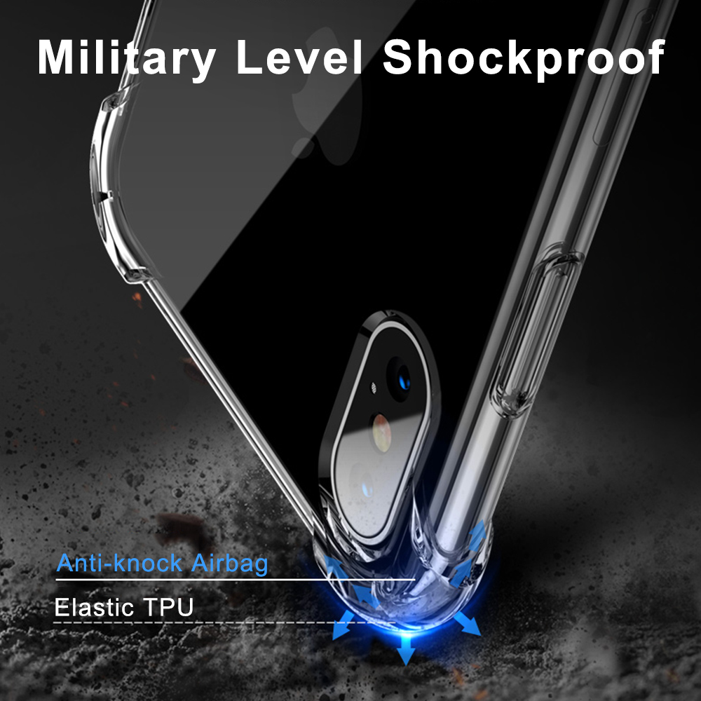 Anti-knock Clear Silicon Shockproof Cover with TPU iPhone Case 1