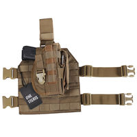OneTigris Tactical Molle Drop Leg Platform Pistol Holster With Mag Pouch For Right Handed Shooters 1911