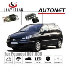 JiaYiTian Câmara de Visão Traseira Para Peugeot 807 806/Citroen Evasão CCD/Night Vision/câmera Placa De Licença Assistência de estacionamento