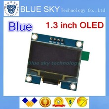 5 ШТ. 1.3 «OLED модуль синий цвет SPI 128X64 1.3 дюймов OLED LCD LED Дисплей Модуль Для Arduino 1.3» SPI Общаться