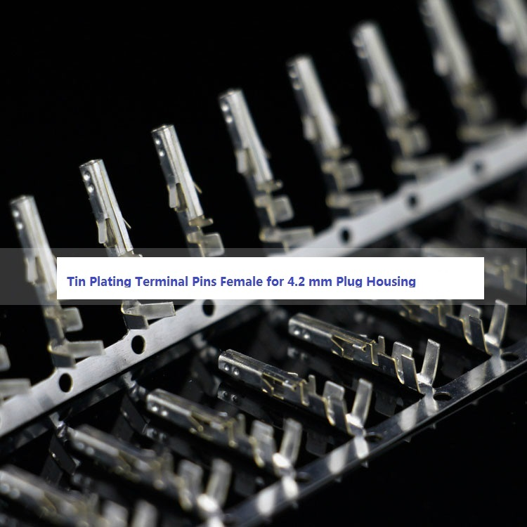 100Pc HDD Molex Harddrive Plug Connector Metal Contact Female Pin Crimp Terminal
