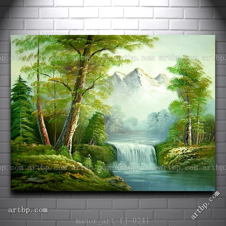 Canvas Wall Art Landscape Oil Painting Modern Decor ...
