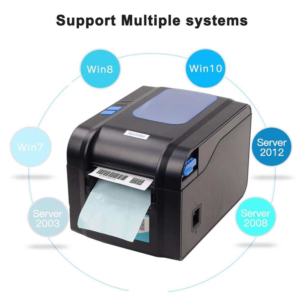 Label Barcode Printer Thermische Printer Print Bill Machine 20 Mm Tot 80 Mm Met Auto Peeling Ondersteuning Sticker papier - 4