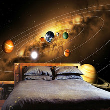 Custom Photo Wall Paper 3D Universe Planet Photography Background Decor Painting Living Room Bedroom Non-woven Mural Wallpaper(China)