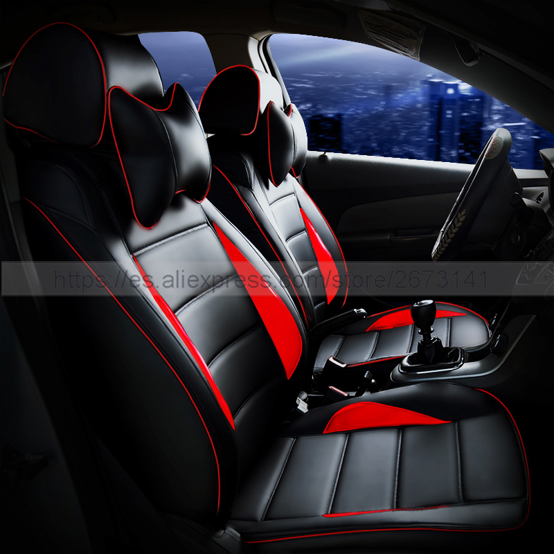 custom leather car seat cover front back complete set car cushion accessories interior for. Black Bedroom Furniture Sets. Home Design Ideas