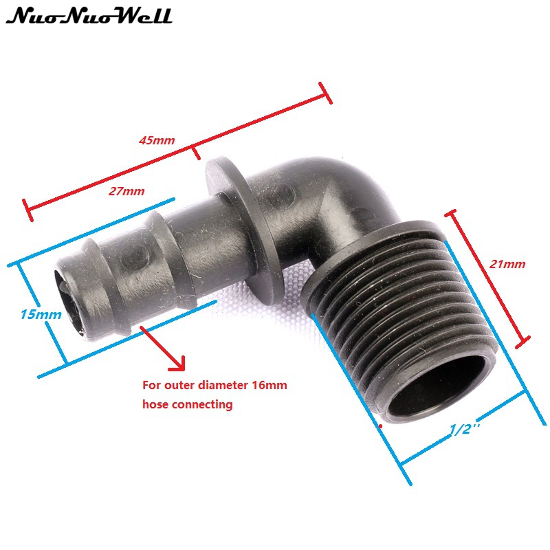 Pcs mm to quot male thread elbow connector garden