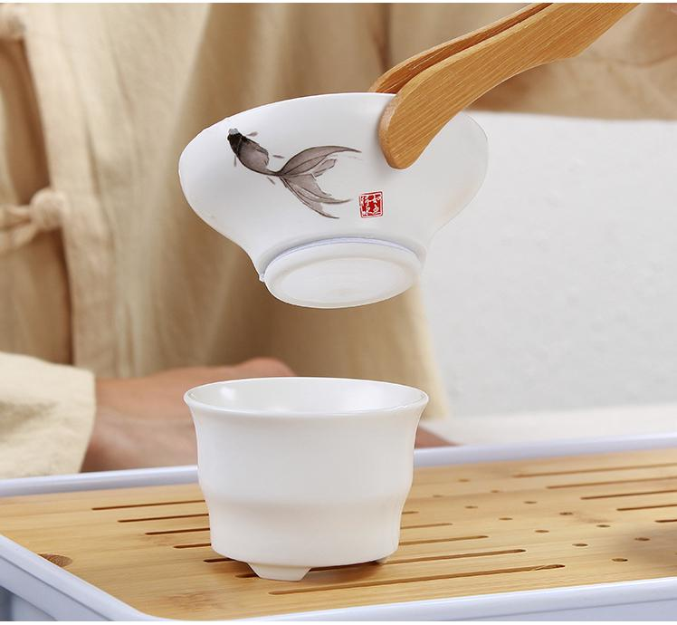 Porcelain Tea Filter Mesh Infuser ceramic Coffee Herb Spice strainer Diffuser Tea ceremony Tools Accessories