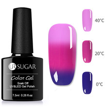 UR SUGAR 7.5ML 3 In 1 Temperature Color Changing Colors Thermal Gel Nail Art Soak Off UV Lacquer Varnish LED