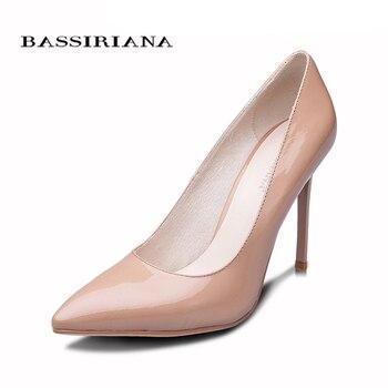 BASSIRIANA 2016 New High-heeled Shoes Woman Pumps Wedding Shoes Fashion Sexy Women Shoes Classic  Black High Heels 4