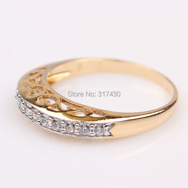 Low price Wholesale 14K Yellow Gold Filled Ring womens ring inlaid