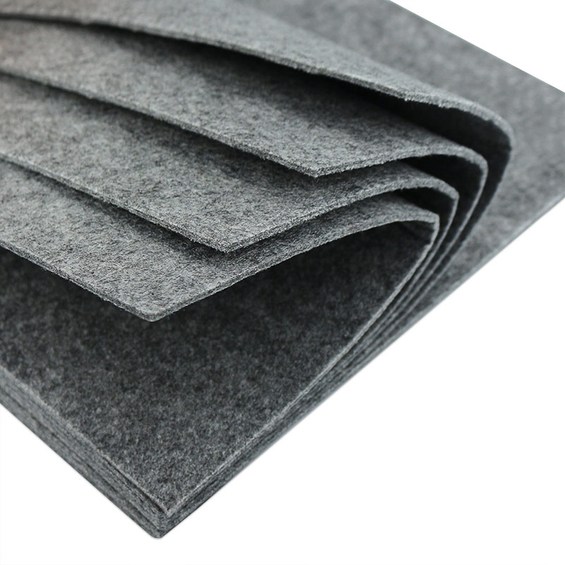 3mm Thick Solid Grey Color Felt 100% Polyester Nonwoven Pure Color Fabric For DIY Craft Home Decoration Supplies 1 Sheet