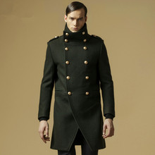 Double breasted military coat men online shopping-the world ...