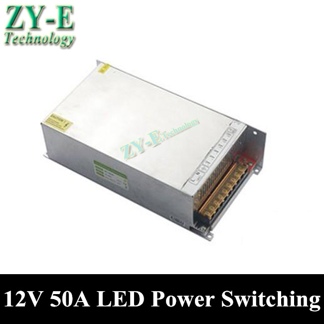 1X 600W 12V 50A LED Power supply Switching Power Supply Driver LED Strip light Display AC110V-240V to 12V transformer free ship dhl free ship 250w waterproof led power supply ac90 250v to 12v 24v output constant voltage driver 2 year warranty transformer