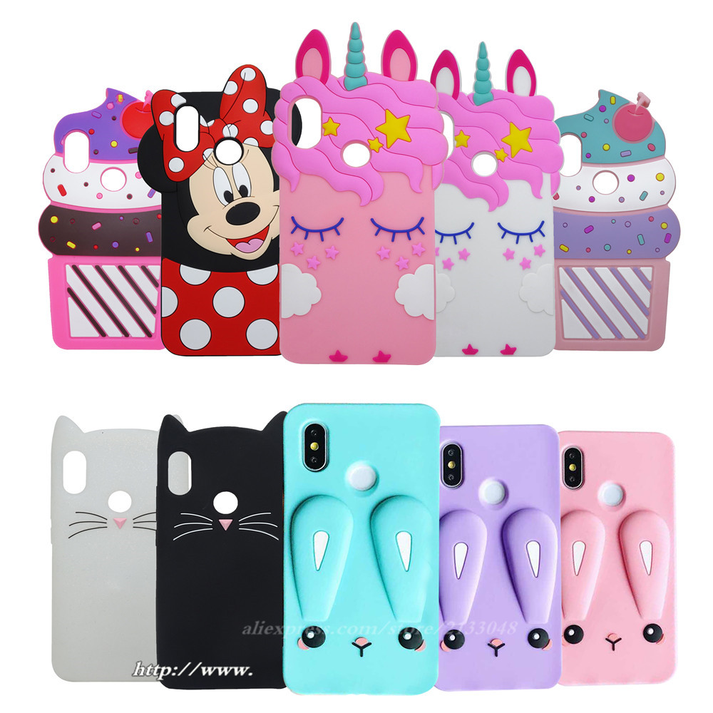 3D Silicon Shy Unicorn Cartoon Case For Xiaomi Redmi Note 5 Case For Xiaomi Redmi Note 5 Pro Case Xiomi Redmi Note5 5.99