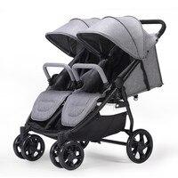 Folding Baby Strollers For Twins Double Jumeaux Double Stroller Kinderwagen Bebek Arabasi Buggy