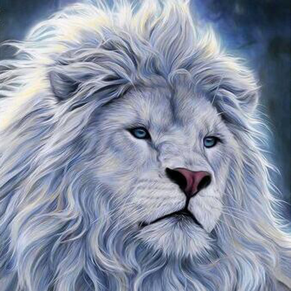 картинка на аву белый лев одно