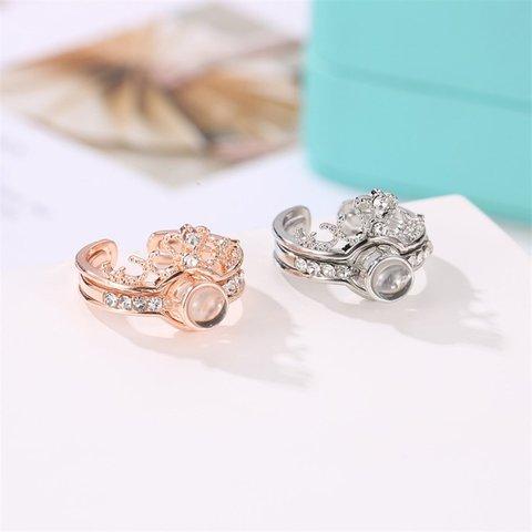 Adjustable Luxury Zircon Engagement Open Rings for Women Female Wedding Rings Ladies Finger Ring Fine Jewelry Gift 100 Languages Karachi