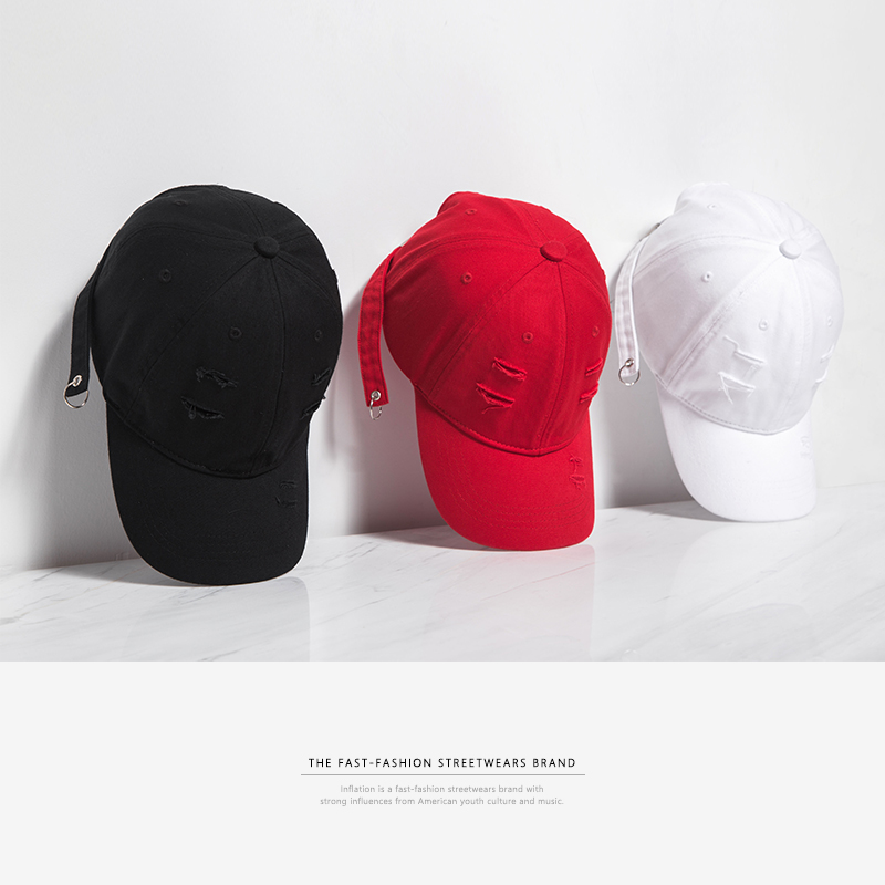 INFLATION 2017 New Arrivals New Fashion Unisex Snapback Sun Hat Cotton   Baseball     Caps   Solid Color 055CI2017