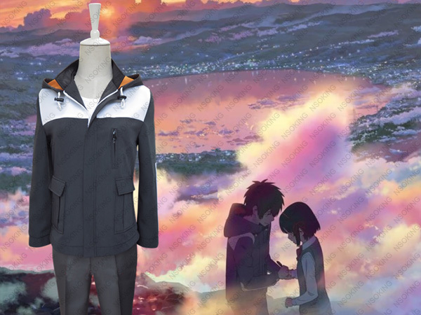 Hot Film Kimi No Na Wa Coat Jacet Daily Uniform Your Name Tachibana