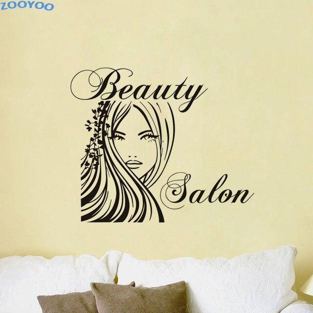 ZOOYOO Beauty Salon Creative Wall Sticker Pretty Girls Woman Wall ...