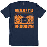Hot 2019 Summer Men'S T Shirt Fashion Cotton No Sleep Till Brooklyn New York Ny 80S Mtv Cd Mixtape Rap T-Shirts