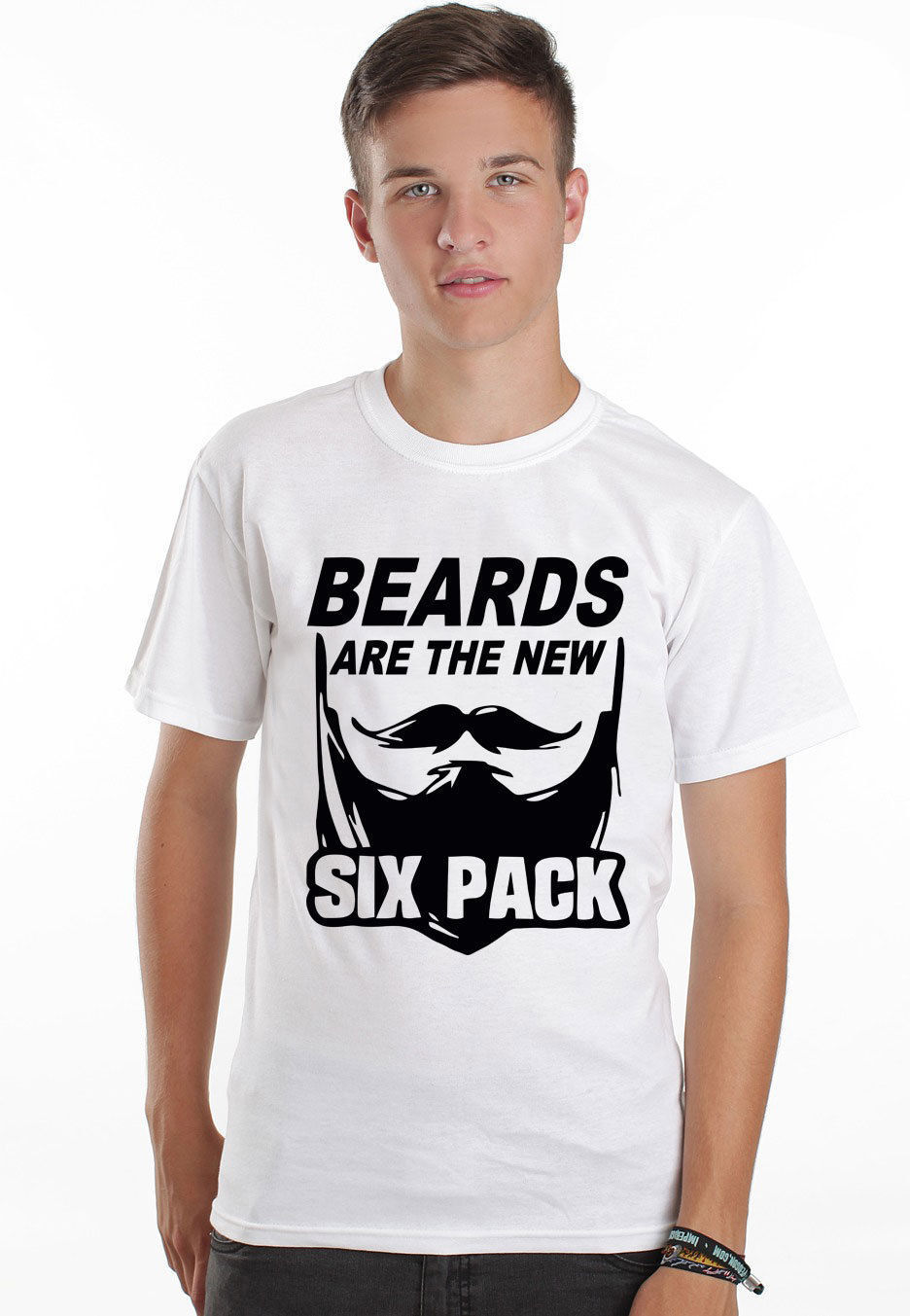 2019 Hot Sale 100% cotton beards are the new six pack muscle funny mens barber <font><b>shave</b></font> full colour t <font><b>shirt</b></font> Tee <font><b>shirt</b></font> image