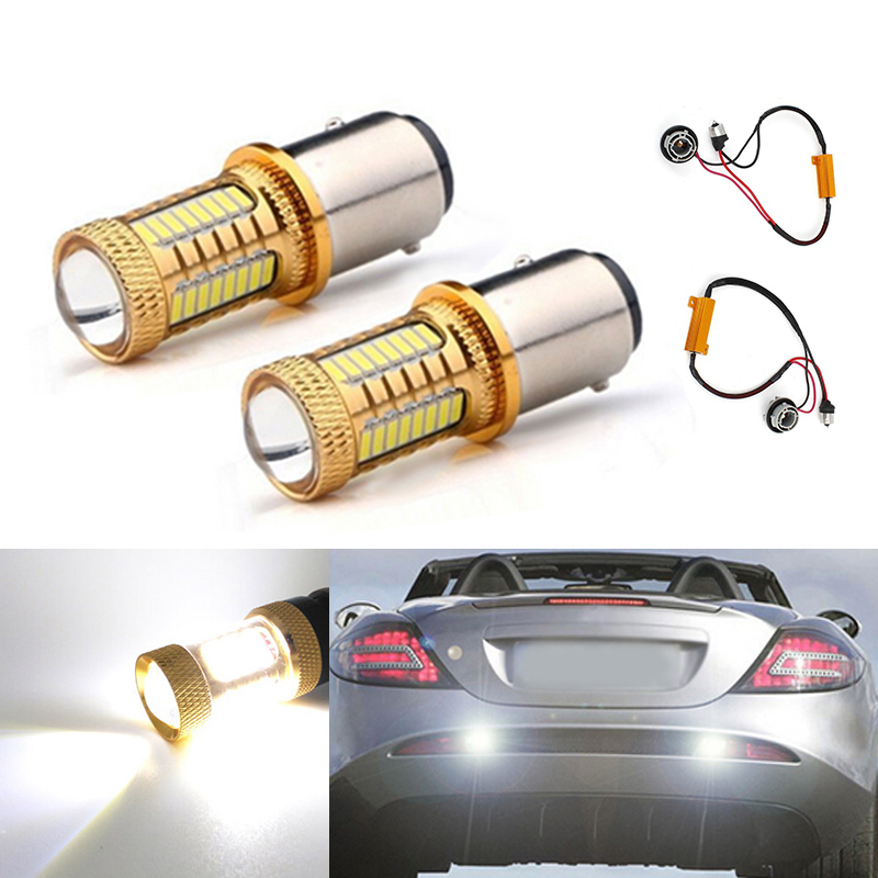 DOTAATDW 2x Error Free LED Bulbs For Reverse Light 1156 p21w 4014 CREE Chip No Error For <font><b>Mercedes</b></font> Benz w204 C class 2007-2014 image