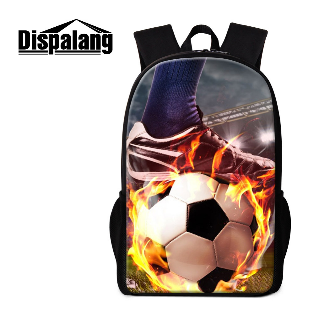 Dispalang Ball Print Backpack for Men Women College Students Back Pack Preppy 16 Inch Cool School Bags for Girls Boys Bookbag