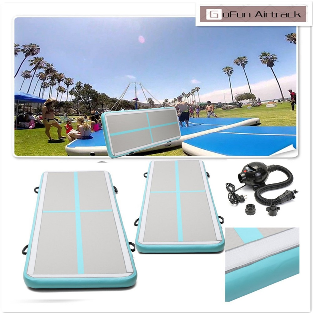Gofun AirTrack 100x300x10 cm Air Tapis Sport Exercice Pad Gonflable Tumbling Piste Gymnastique Formation Pad Avec pompe À Air