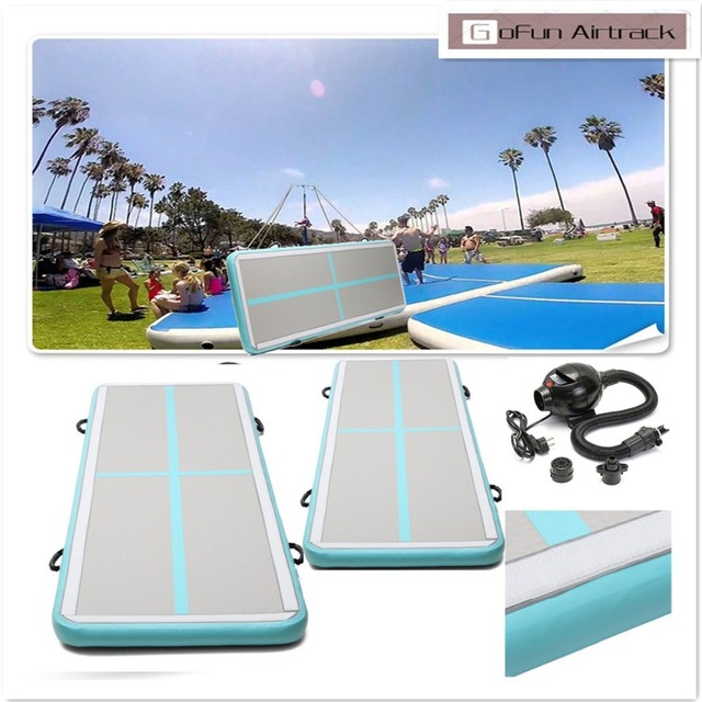 Gofun AirTrack 100x300x10cm Air Mats Sport Exercise Pad Inflatable Tumbling Track Gymnastics Training Pad With Air Pump