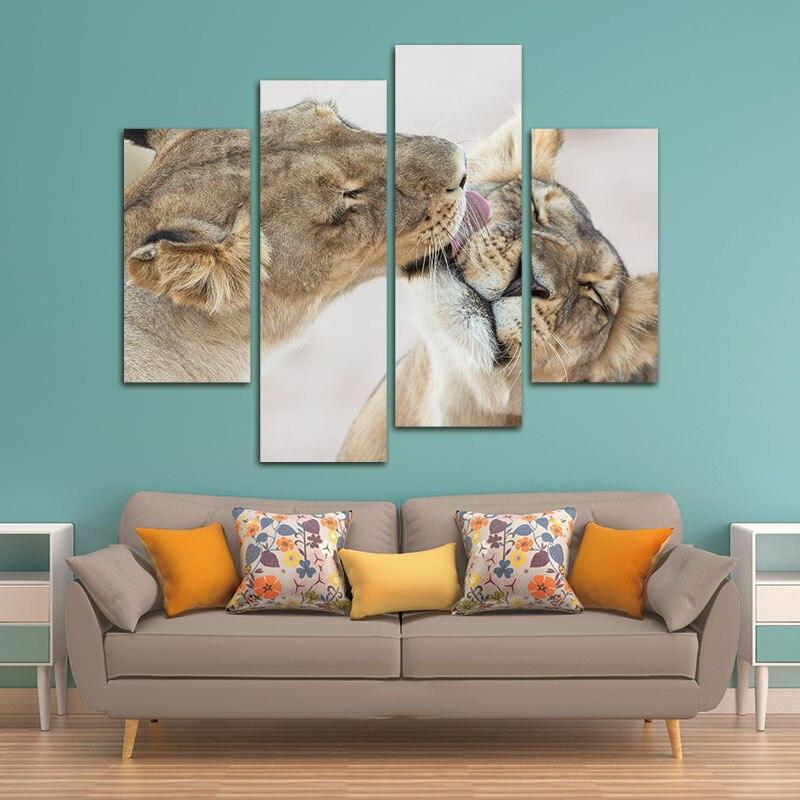 Aliexpress.com : Buy 4 Panels Unframed Canvas Photo Prints