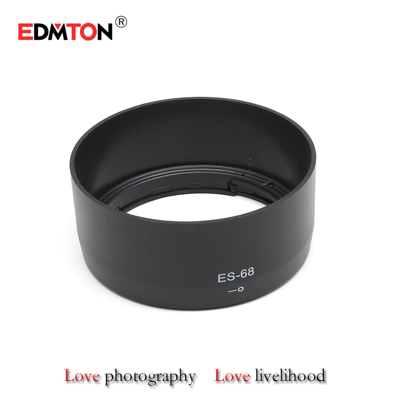 New ES68 ES-68 Camera Lens Hood for Canon EOS EF 50mm f/1.8 STM Free shipping 49mm lens protector brand new hot sale image