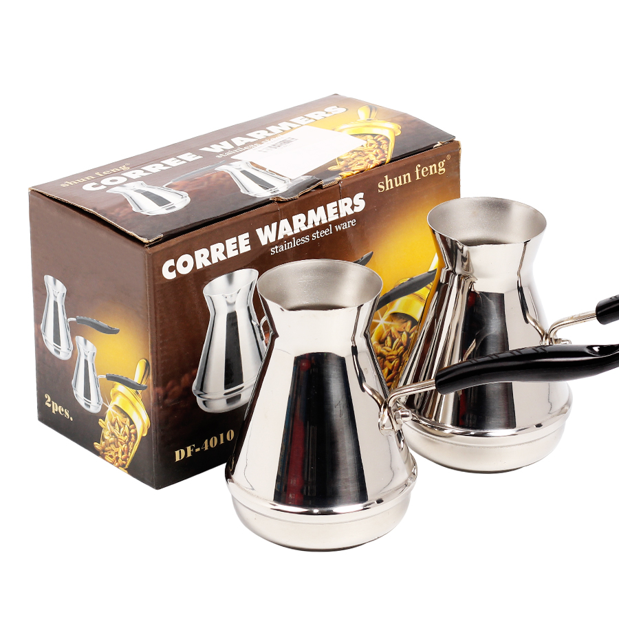 2 PCS +BOX Coffee Maker Turkish coffee Portable pot Coffee Machine Mini Manual Brewer Spout Kettle Coffee Maker Pot For Home