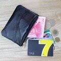 1pcs DIY Patchwork Genuine Leather Wallet Women Men Fashion Mini Coin Purse Sheepskin Zipper Small Change Pouch free shipping