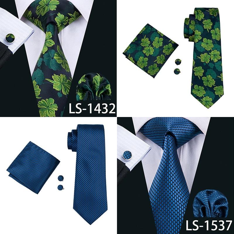 Fashion Paisley Tie Hanky Cufflink Set For Men