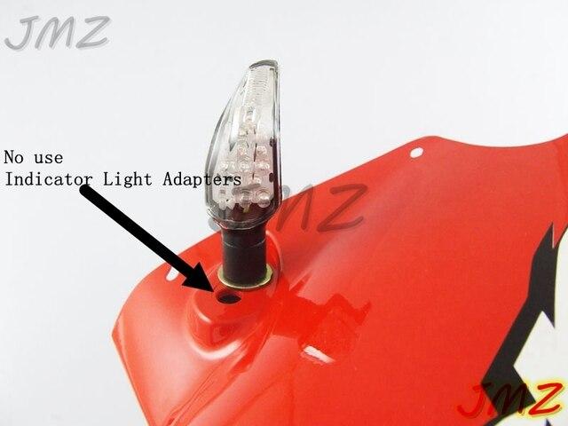 Espaciadores del adaptador del indicador de señales de giro de la motocicleta para HONDA GROM MSX125 CBR250R CBR300R CB650F CBR650F NC700S/X