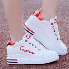 New spring and autumn ladies sneakers shoes round head flat-bottomed casual in the increased fashion