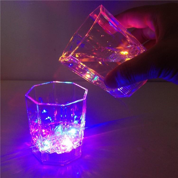 light flashing cup drink cup led small beer bar mug octagonal nightclub for parties wedding clubs christmas halloween decoration