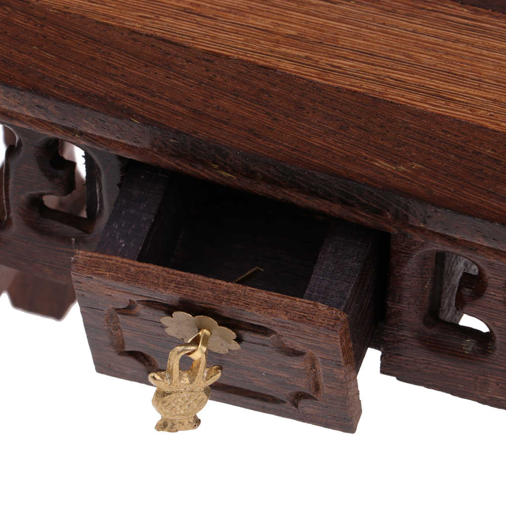 1/12 Dollhouse Miniature Furniture Chinese Lute Table/Support Table/End Table Room Items Life Scenes Decor