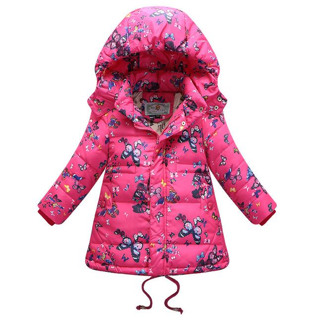 2016 Crianças Casuais Meninas Parka Nova venda Quente Casaco de Inverno Longo pato Para Baixo Grossa Jaqueta de Inverno da Pele Do Falso Com Capuz Para Meninas T0111