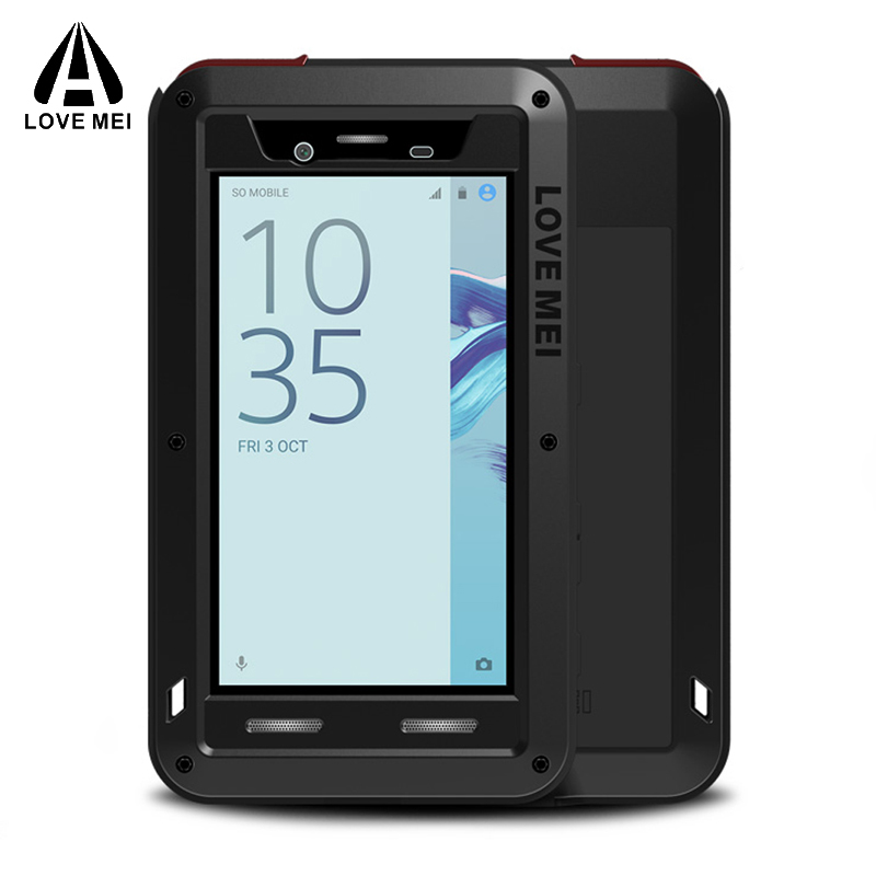 sFOR SONY Xperia X Compact Case +Gorilla Glass Full Body Protective Aluminum Shockproof Armor Cover sFOR SONY X Compact Case