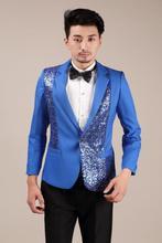 Sequins blazer men formal dress latest coat pant designs suit men dance trouser marriage wedding suits