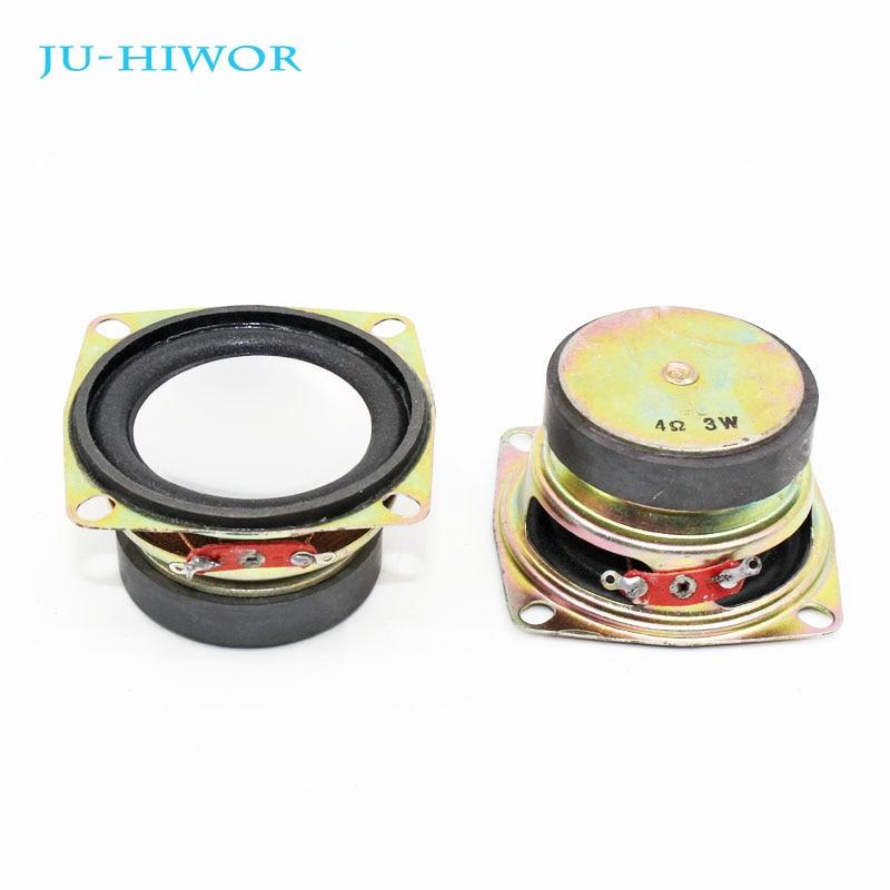 2pcs 4 Ohm 3W Loudspeaker Square Speaker External Magnetic Foam Edge Silvery Rubber Cap 53*40*30mm