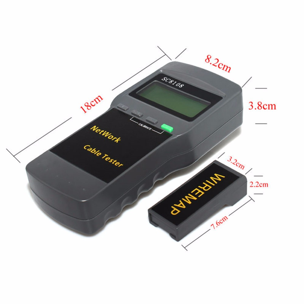 Free Shipping SC8108 Portable Multifunction  LCD Wireless Network Tester Meter&LAN Phone Cable Tester & MeterFree Shipping SC8108 Portable Multifunction  LCD Wireless Network Tester Meter&LAN Phone Cable Tester & Meter